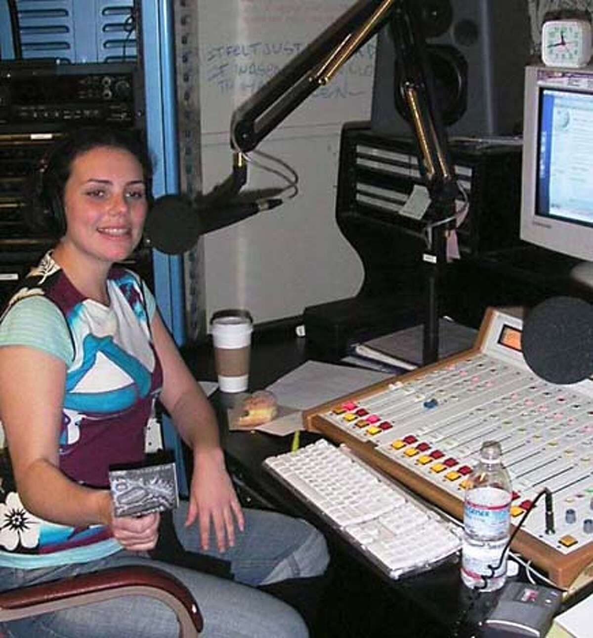 Photo of Irene McGee, who has a radio program on KSFS, the station at San Francisco State.