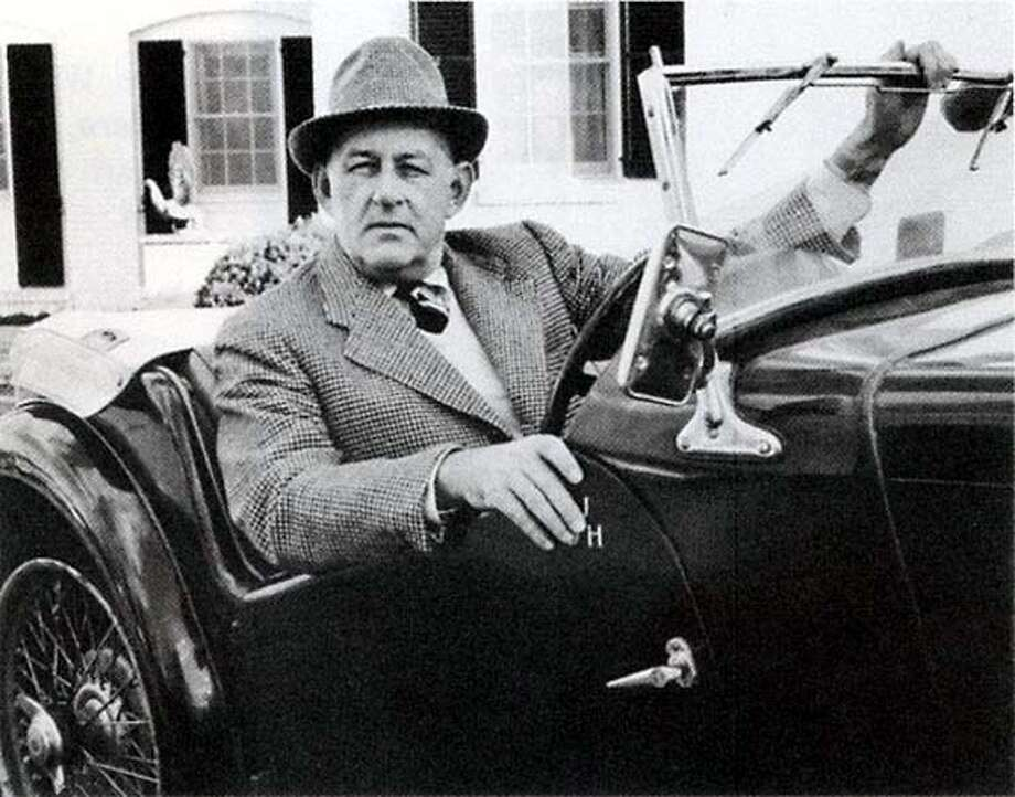 "Photo of the writer John O'Hara in monogrammed MG-TC, Princeton, N.J. (undated) from ""The Art of Burning Bridges: A Life of John O'Hara"" (Knopf)  For use with book review only"