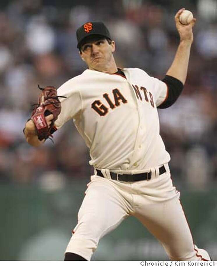 Barry Zito pitches as the Giants host the Astros in San Francsico  Photo by Kim Komenich/The Chronicle  **Barry Zito Photo: Kim Komenich