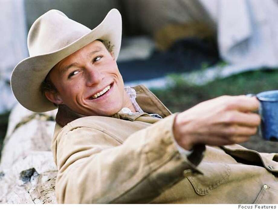 "Heath Ledger in the movie ""Brokeback Mountain."" Photo: Courtesy of Focus Features Photo: Courtesy Of Focus Features"