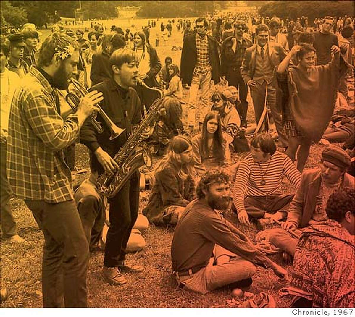 The magic that struck for a short while in the summer of 1967 is still around us, though not in as concentrated a dose as it was in San Francisco. Photo illustration by Erick Wong