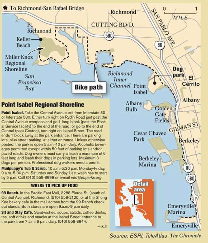 Point Isabel Regional Shoreline. Chronicle Graphic