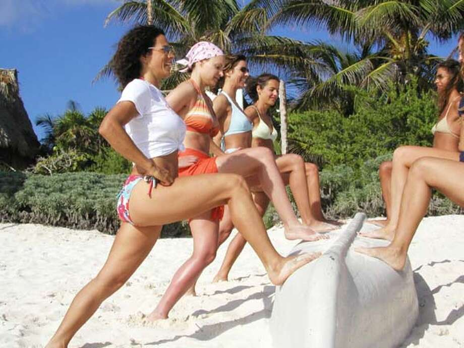 TRAVEL MEXICO -- Bikini Boot Camp at the Amansala Resort near Cancun.  Credit: Amansala Resort