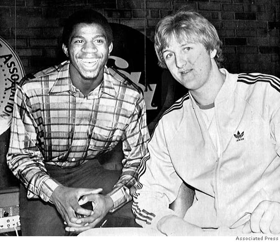 1979: Magic Johnson outduels Larry BirdThere wasn't a singular moment in this game that stands out, it was the whole night. March Madness didn't exist before Magic Johnson and Larry Bird began what would become one of basketball's greatest rivalries. This was the game that made the final Monday of college basketball season must-see TV. Magic vs. Bird. Magic was black. Bird was white. Magic was a talker. Bird was stoic, At the time, it had the highest Nielsen ratings of any game in the history of American basketball. Magic's Michigan State team beat previously undefeated Indiana State 75-64, but it was more about the duel between Magic - who finished with 24 points and seven rebounds - and Bird, who had 19 points and 13 rebounds.