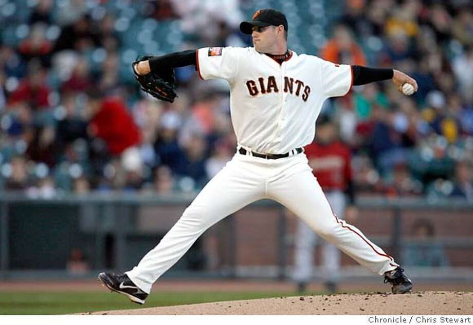 giants_0024_cs.jpg Event on 5/21/07 in San Francisco.  The San Francisco Giants' starting pitcher Noah Lowry as they play the Houston Astros at AT&T Park in San Francisco. The score remains 0-0 at the bottom of the third inning. Photographed May 21, 2007.  Chris Stewart / San Francisco Chronicle San Francisco Giants, Houston Astros Photo: Chris Stewart