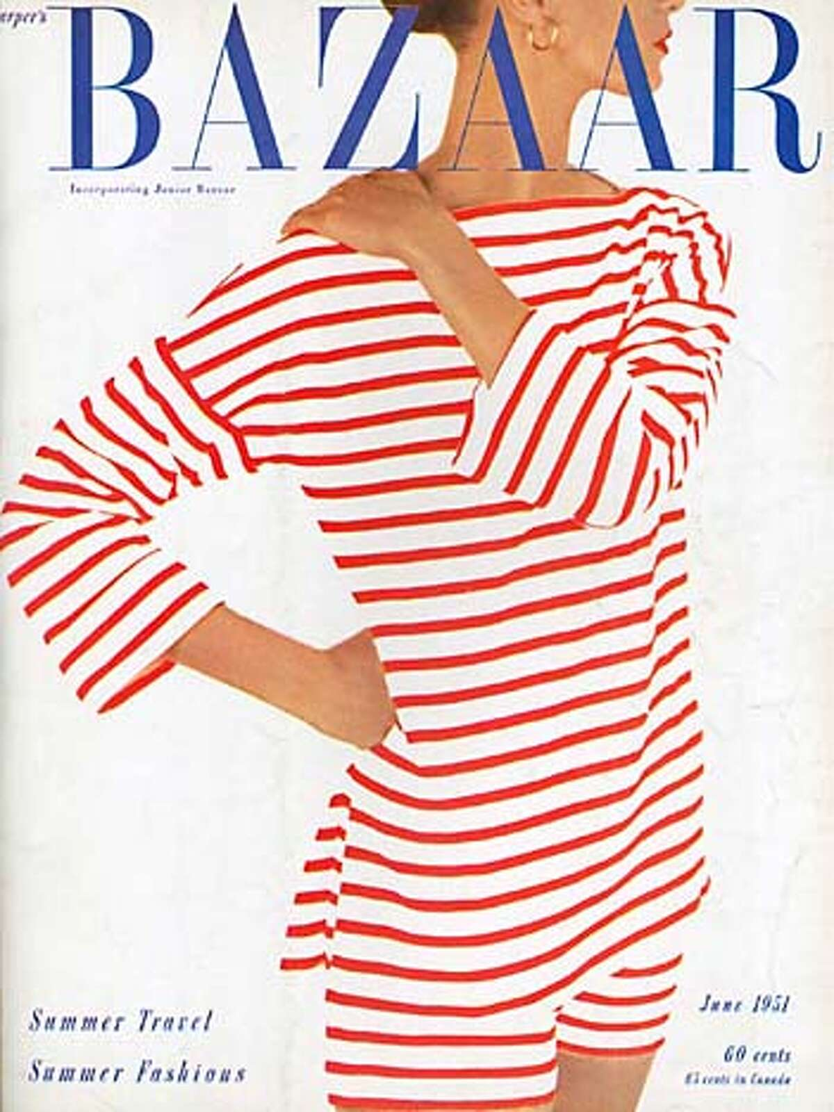 cover of Harper's Bazaar to run with Sylvis Rubin's piece on Penelope Rowlands' biography of Carmel Snow (