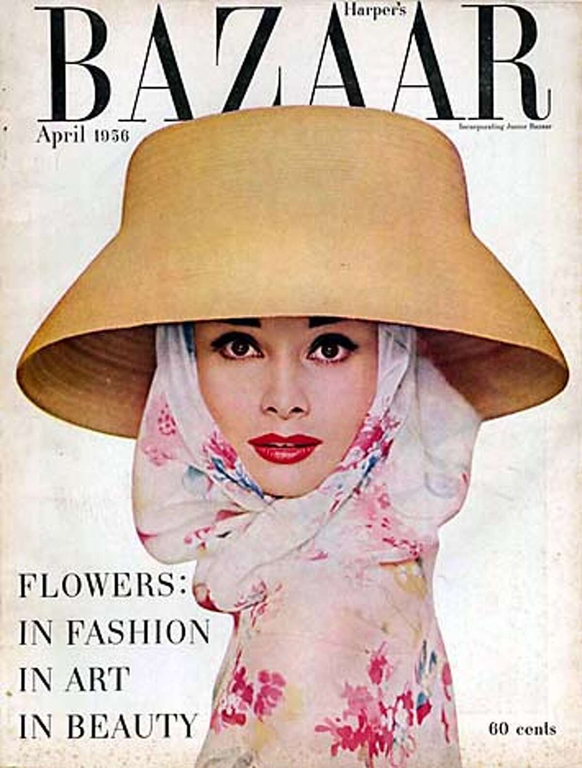cover of Harper's Bazaar, April 1950, to run with Sylvia Rubin's piece on Penelope Rowlands' biography of Carmel Snow (