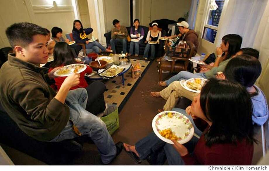 "ASIANCHRISTIAN_053_KK.JPG  Asian Americans have become a dominant force in campus evangelical groups at UC Berkeley. One of Intervarsity Christian's ""ethnic identity"" religious discussion groups meets at Canterbury House near the Cal campus.  Photo by Kim Komenich/The Chronicle �2007, San Francisco Chronicle/ Kim Komenich  MANDATORY CREDIT FOR PHOTOG AND SAN FRANCISCO CHRONICLE. NO SALES- MAGS OUT. Photo: Kim Komenich"