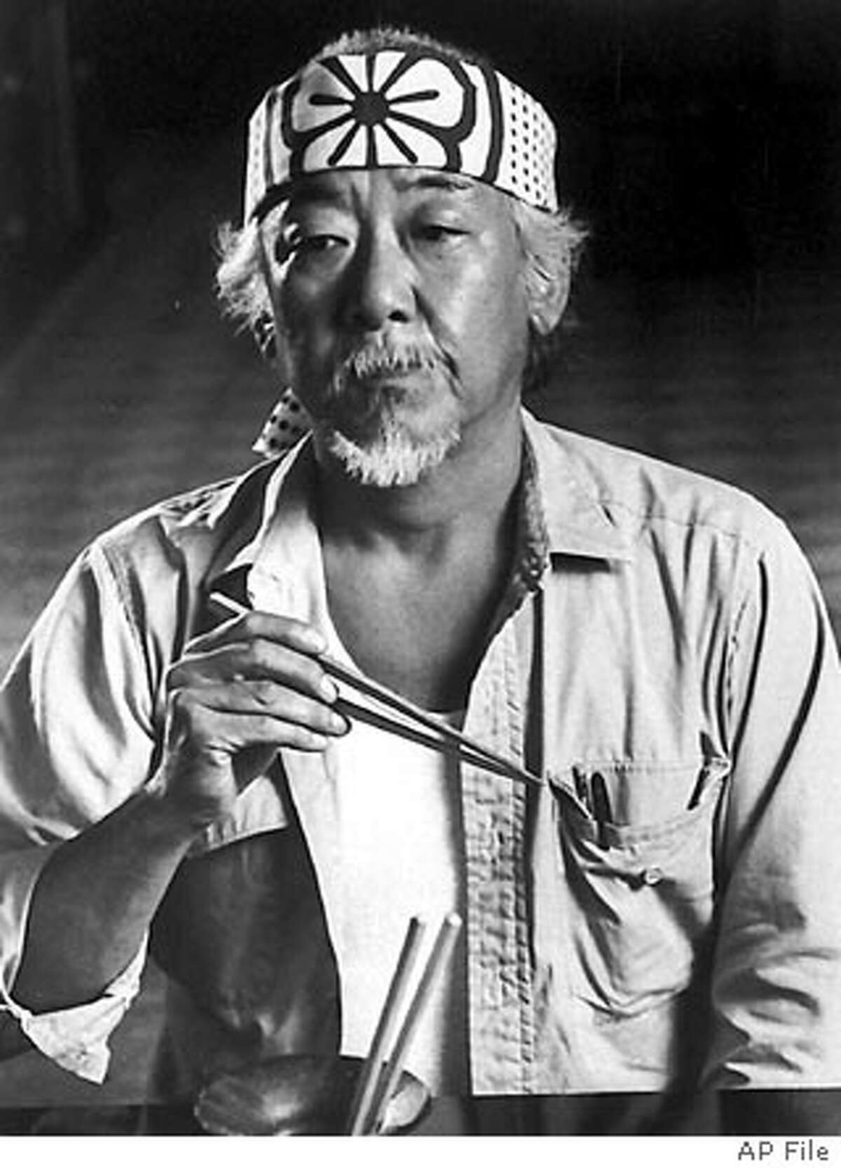 **FILE** Actor Pat Morita poses for a photo in this 1986 file photo. Morita, whose portrayal of the wise and dry-witted Mr. Miyagi in