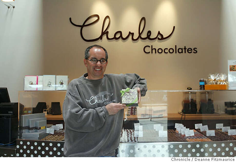 Chuck Siegel is the CEO of Charles Chocolates in Emeryville. He is holding an edible chocolate box filled with an assortment of chocolates.  SUNDAY, MAY 13, 2007 DEANNE FITZMAURICE EMERYVILLE SFC  THE CHRONICLE click_chocolate_0019_df.jpgChuck Siegel is the CEO of Charles Chocolates ion Emeryville. Pictured is an edible chocolate box filled with an assortment of chocolates.  SUNDAY, MAY 13, 2007 DEANNE FITZMAURICE EMERYVILLE SFC  THE CHRONICLE Ran on: 05-20-2007  Chuck Siegel found it difficult to identify a market for his Charles Chocolates through the use of pay-per-click advertising. Photo: DEANNE FITZMAURICE