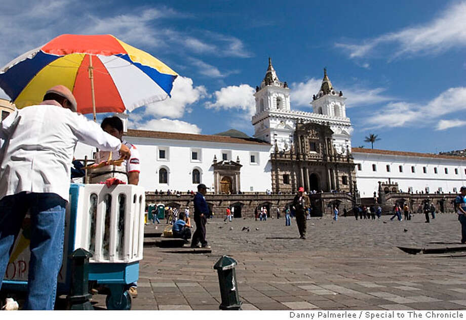 an ice cream vendor in front of the Plaza and Monastery  of San Francisco  credit Danny Palmerlee Photo: Danny Palmerlee