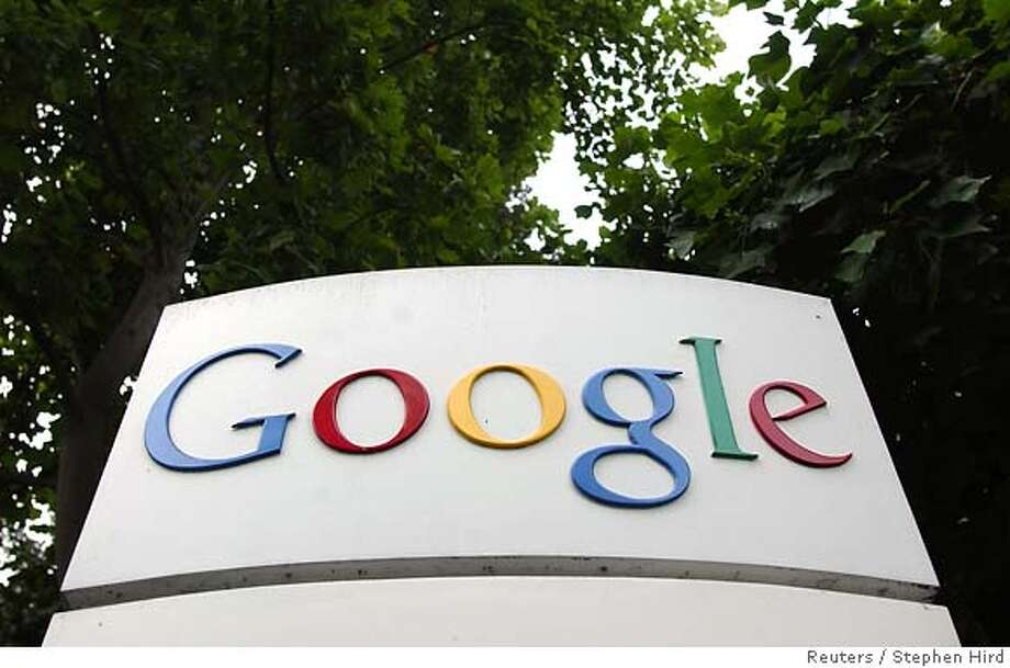A Google logo is seen outside headquarters in Mountain View in this August 18, 2004 file photo. The web search leader on October 20, 2005 posted a surge in quarterly profit as revenue doubled, topping Wall Street expectations, and breaking the stock out of recent doldrums, sending it up 11 percent. REUTERS/Stephen Hird/Files Ran on: 10-22-2005  Hurricane Wilma forces people to wade through the streets of Cancun, Mexico. Photo: CLAY MCLACHLAN