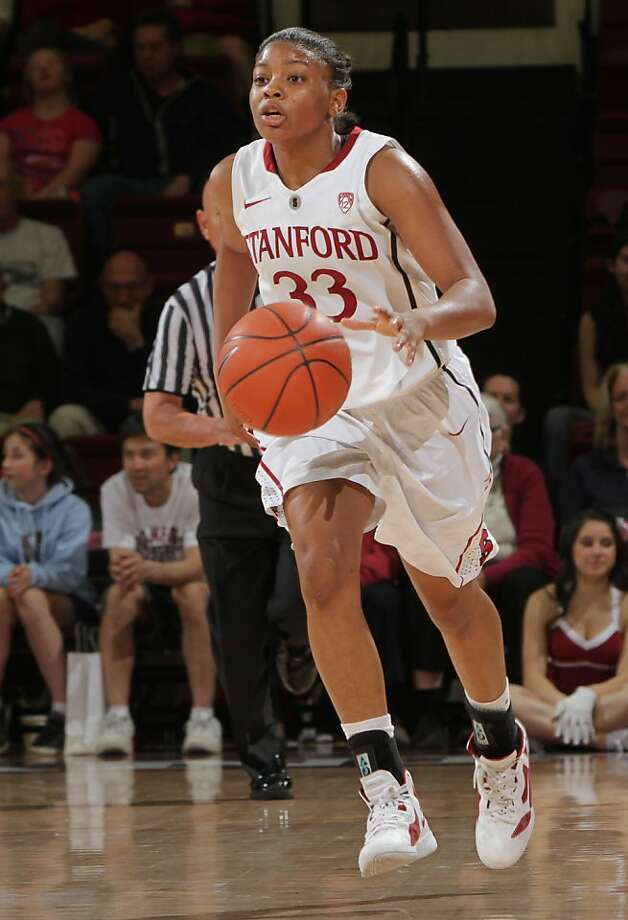 STANFORD, CA - February 23, 2012: Amber Orrange during Stanford's 68-46 victory over Colorado in Stanford, California on February 23, 2012.  STANFORD, CA - February 23, 2012:  Amber Orrange during Stanford's 68-46 victory over Colorado in Stanford, California on February 23,  2012. Photo: Rick Bale, Stanford Athletics