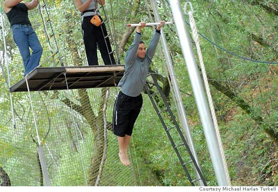 Stephane Vivier, winemaker for HdV Wines in Napa, practices flying trapeze in Sonoma in his spare time. Credit: Courtesy Michael Harlan Turkell / harlanturk.com Photo: Courtesy Michael Harlan Turkell