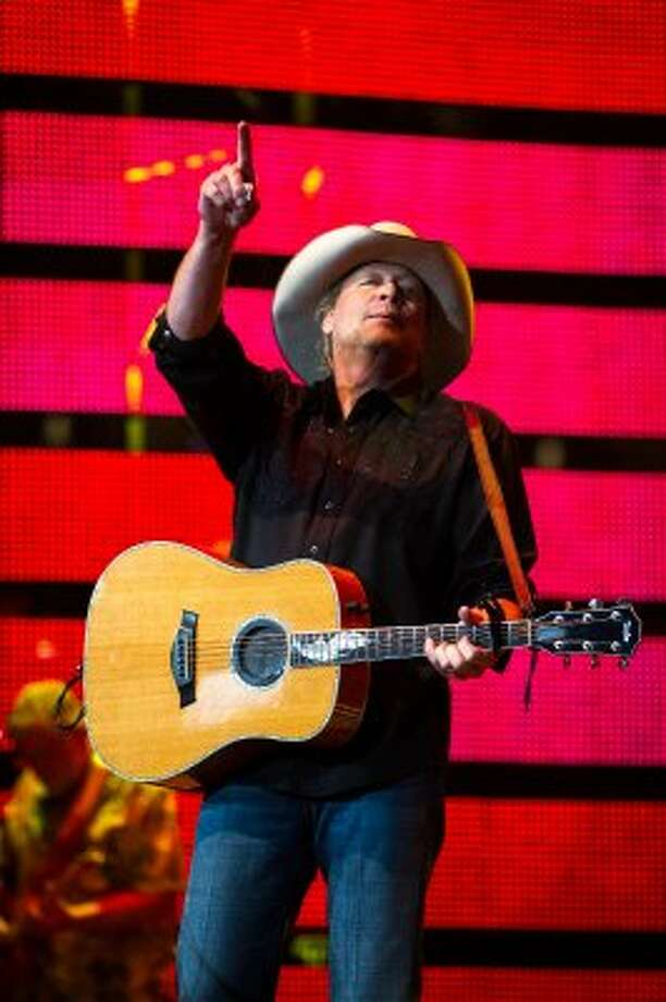 Alan Jackson performs on the final day of the Houston Livestock Show and Rodeo on Sunday, March 18, 2012, in Houston. (Smiley N. Pool / Houston Chronicle ) (Houston Chronicle)