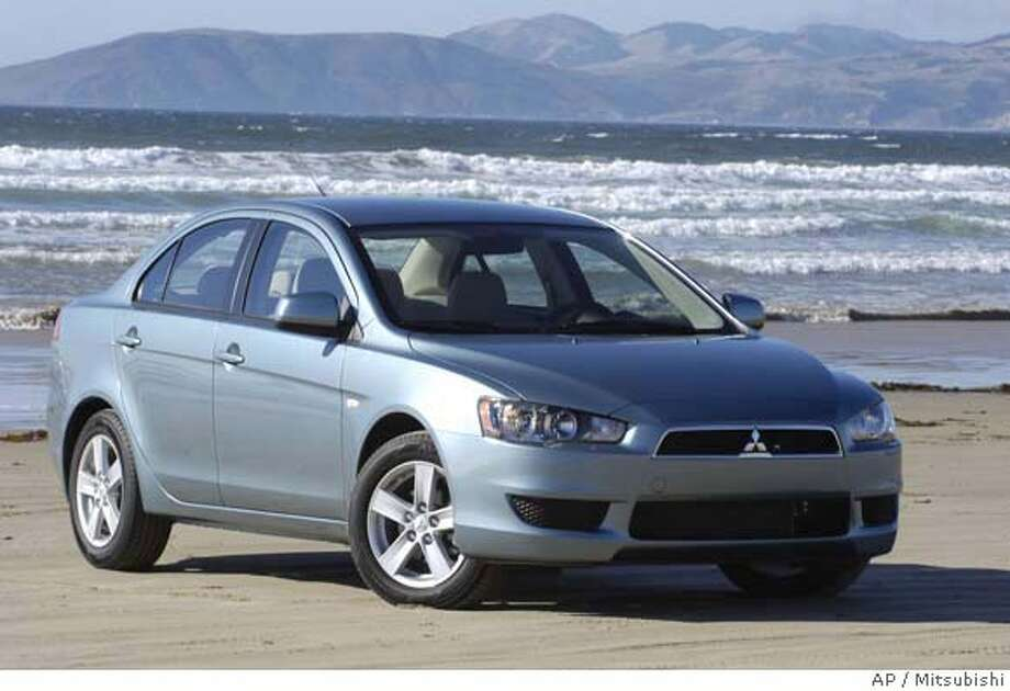 This undated photo provided by Mitsubishi shows the 2008 Mitsubishi Lancer ES. (AP Photo/Mitsubishi) NO SALES Photo: Mitsubishi/wieck