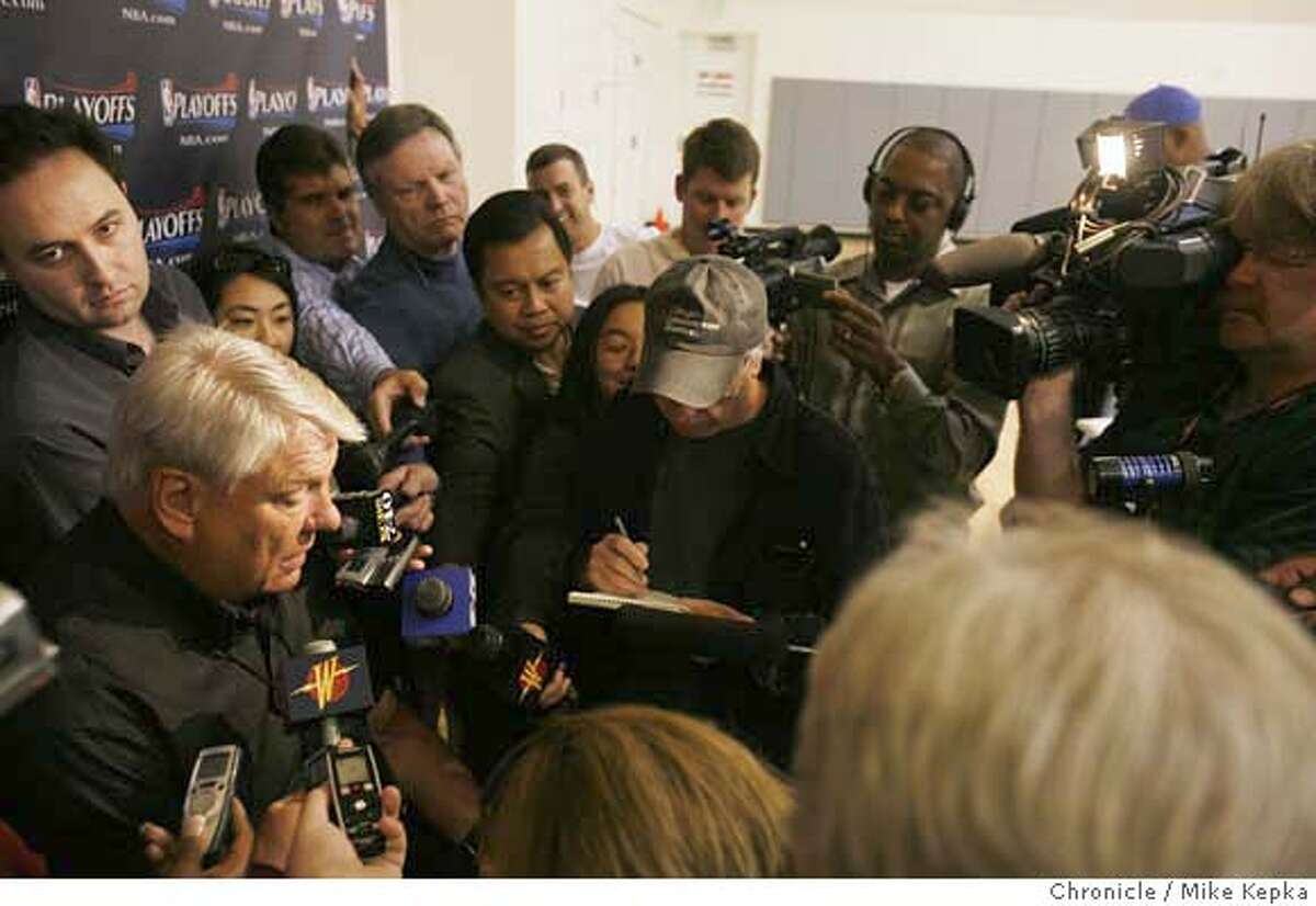 At the practice facility in Oakland, Warriors coach Don Nelson holds his last press conference of the season the day after the Golden State warriors lost to the Utah Jazz. Mike Kepka / The Chronicle Don Nelson (cq)