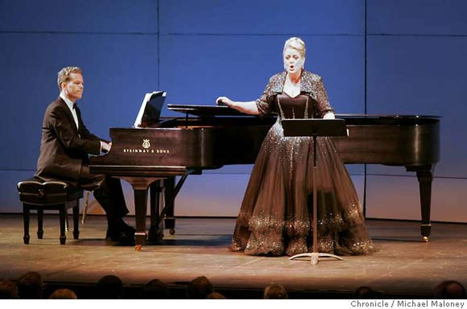 VOIGHT_033_MJM.jpg  Soprano Deborah Voigt performs with pianist Brian Zeger.  Soprano Deborah Voigt, who made a big splash a year or so ago about opera singers and weight, gives her first local recital since dropping a load of weight through surgery. She performed a recital at Zellerbach Hall on the UC Berkeley campus, part of Cal Performances.  Event in Berkeley, CA  Photo by Michael Maloney / The Chronicle MANDATORY CREDIT FOR PHOTOG AND SF CHRONICLE/ -MAGS OUT Photo: Michael Maloney