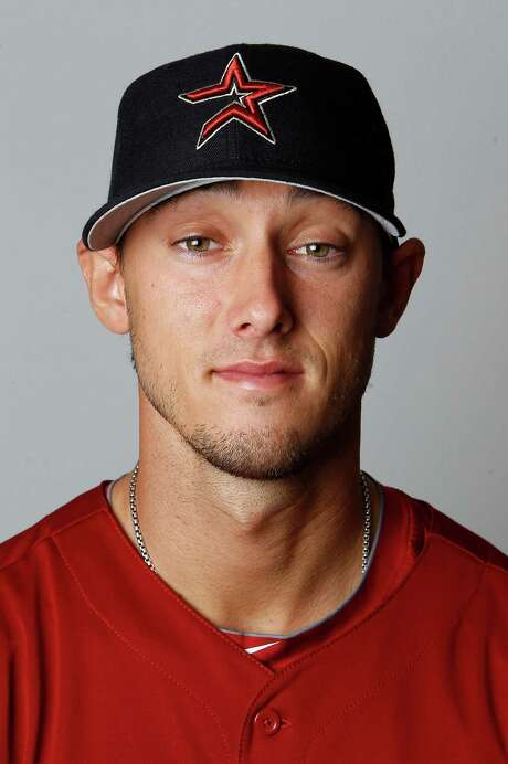 Houston Astros center fielder Jordan Schafer (1) photographed during photo day at the Astros spring training complex at Osceola County Stadium on Tuesday, Feb. 28, 2012, in Kissimmee. ( Karen Warren / Houston Chronicle ) Photo: Karen Warren / © 2012  Houston Chronicle