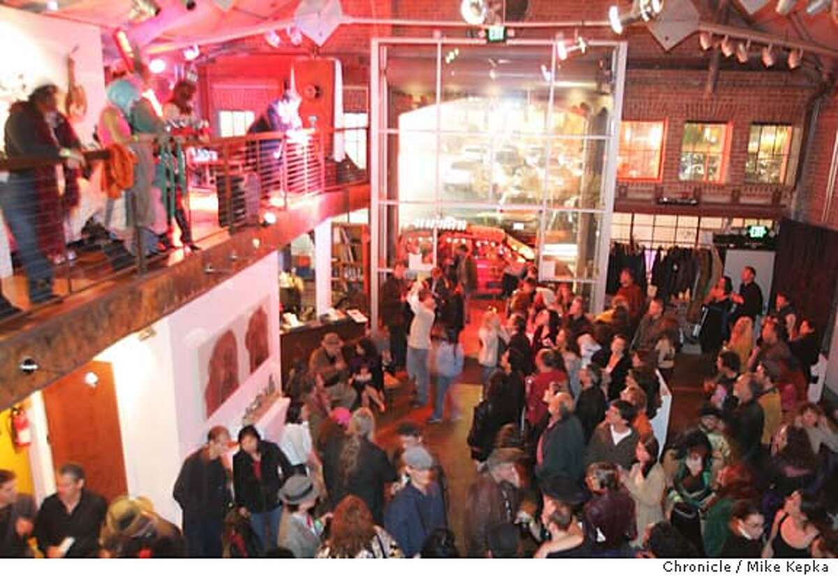 Laughing Squid celebrates it 10 anniversary with a big party at the Varnish Fine Art gallery south of Market. San Francisco on date}. Mike Kepka / The Chronicle