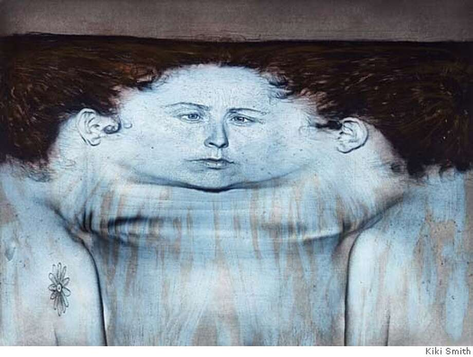 My Blue Lake, 1995. Photogravure and lithograph on paper, 42 1/2 x 54 3/4 in. Collection Walker Art Center, Minneapolis. copyright Kiki Smith.