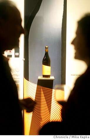 sfpour18286_mk.JPG  The Pazzo bottle from Bacio Divino Cellars. Art and wine enthusiast met at the San Francisco Museum of Craft and Design Saturday for a new display of wine labels. date} Mike Kepka / The Chronicle MANDATORY CREDIT FOR PHOTOG AND SF CHRONICLE/ -MAGS OUT Photo: Mike Kepka