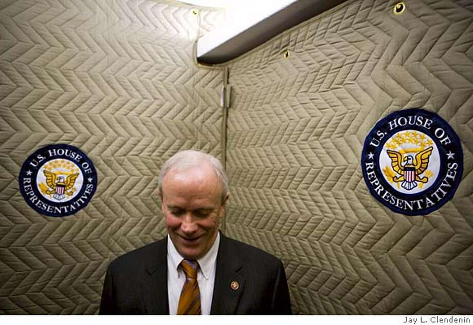 U.S. Congressman Jerry McNerney (D-Ca, 11th), is seen inside an elevator of the U.S. Capitol on the House side. originally shot for The San Francisco Chronicle Photo: Jay L. Clendenin