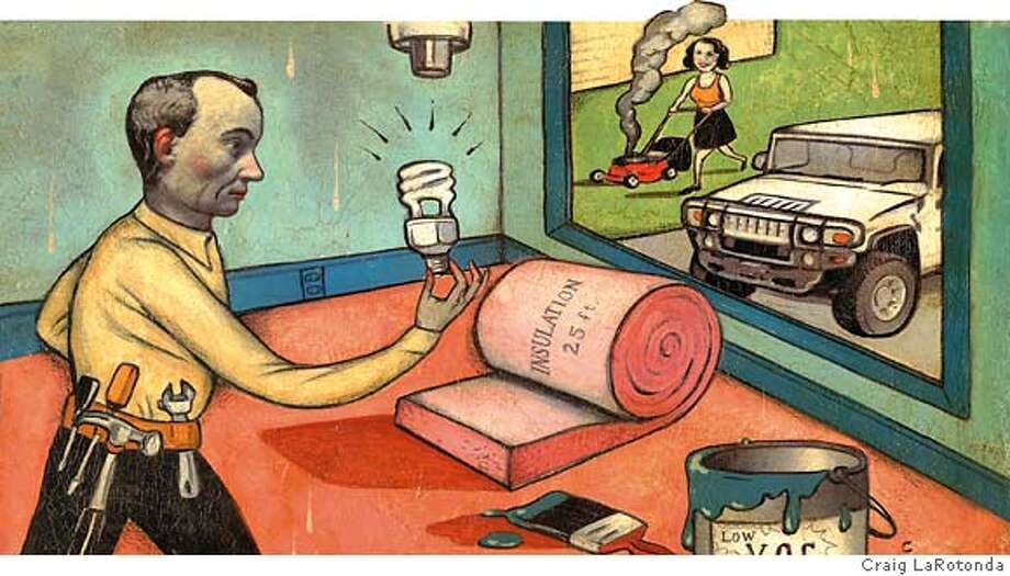 "Illustration for ""Green Envy"" essay runnning in 5-13-07 issue of Sunday Magazine Photo: Craig LaRotonda"