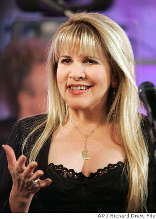 "Stevie Nicks is interviewed between songs on the NBC ""Today"" television program in New York, Friday morning March 30, 2007. She will be on a tour this summer with Chris Isaak that is scheduled to start in Concord, Calif. on May 17. (AP Photo/Richard Drew) Photo: RICHARD DREW"