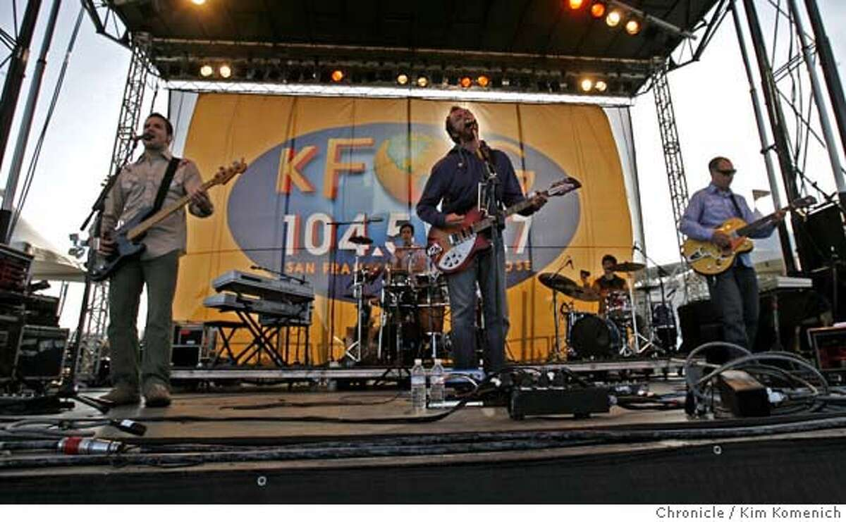 FILE - Guster performs at KFOG KaBoom, KFOG Radio's annual music festival on the Embarcadero Saturday afternoon. The alt-rock station will transition to a simulcast of KNBR sports radio on Sept. 6, 2019.