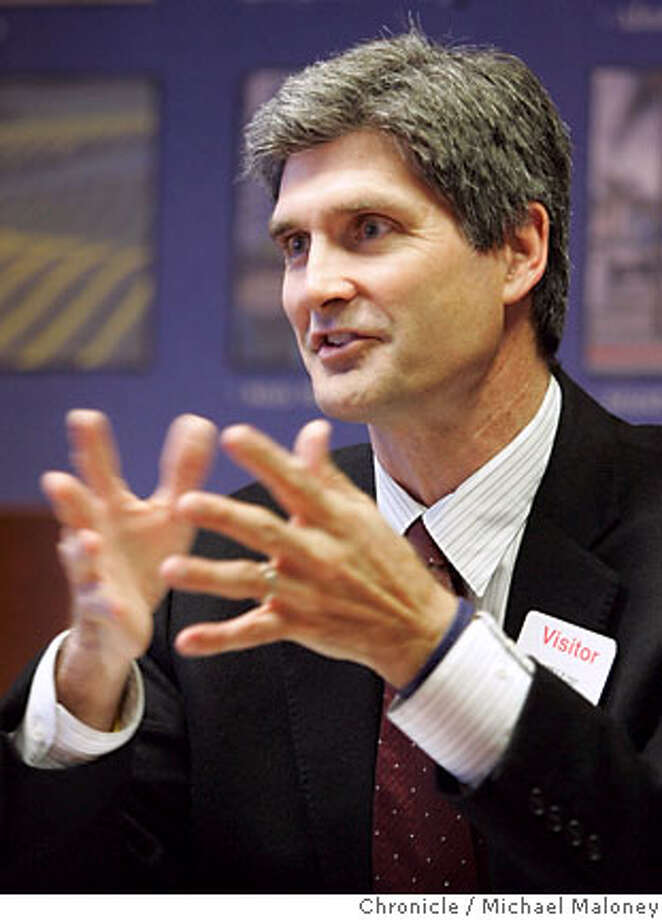 Carl Guardino, president and CEO of the Silicon Valley Leadership Group talks with the Chronicle business reporters at the Chronicle offices on Thursday, April 19, 2007.  Photo by Michael Maloney / San Francisco Chronicle *** Carl Guardino Ran on: 05-13-2007  Carl Guardino and San Jose's then-mayor, Ron Gonzalez (left), appear at a 2005 legislative meeting in Sacramento. Guardino and legislators often discuss the Silicon Valley Leadership Group's agenda. Photo: Michael Maloney