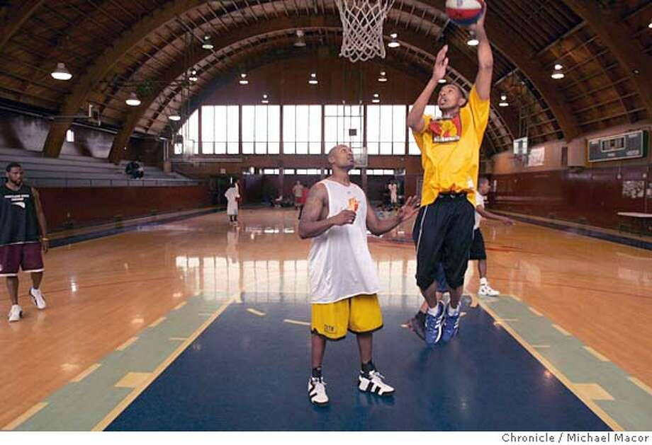 pilots_119_mac.jpg Former USF basketball player, Jovan Harris shoots over William Levy during practice. The San Francisco Pilots, a new basketball team, part of the American Basketball Association. Owner Parimal Rohit, 28. The Potrero Hill Recreation Center is the team practice facility. 11/2/05 San Francisco, Ca. Michael Macor / San Francisco Chronicle Mandatory Credit for Photographer and San Francisco Chronicle/ - Magazine Out Photo: Michael Macor