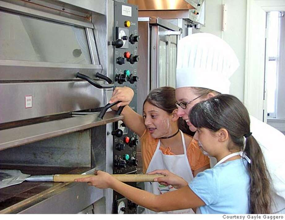 Chef Rene Reagan gets a lil hand from  Gabie and Dani Gaggero in Kids Culinary Adventures.