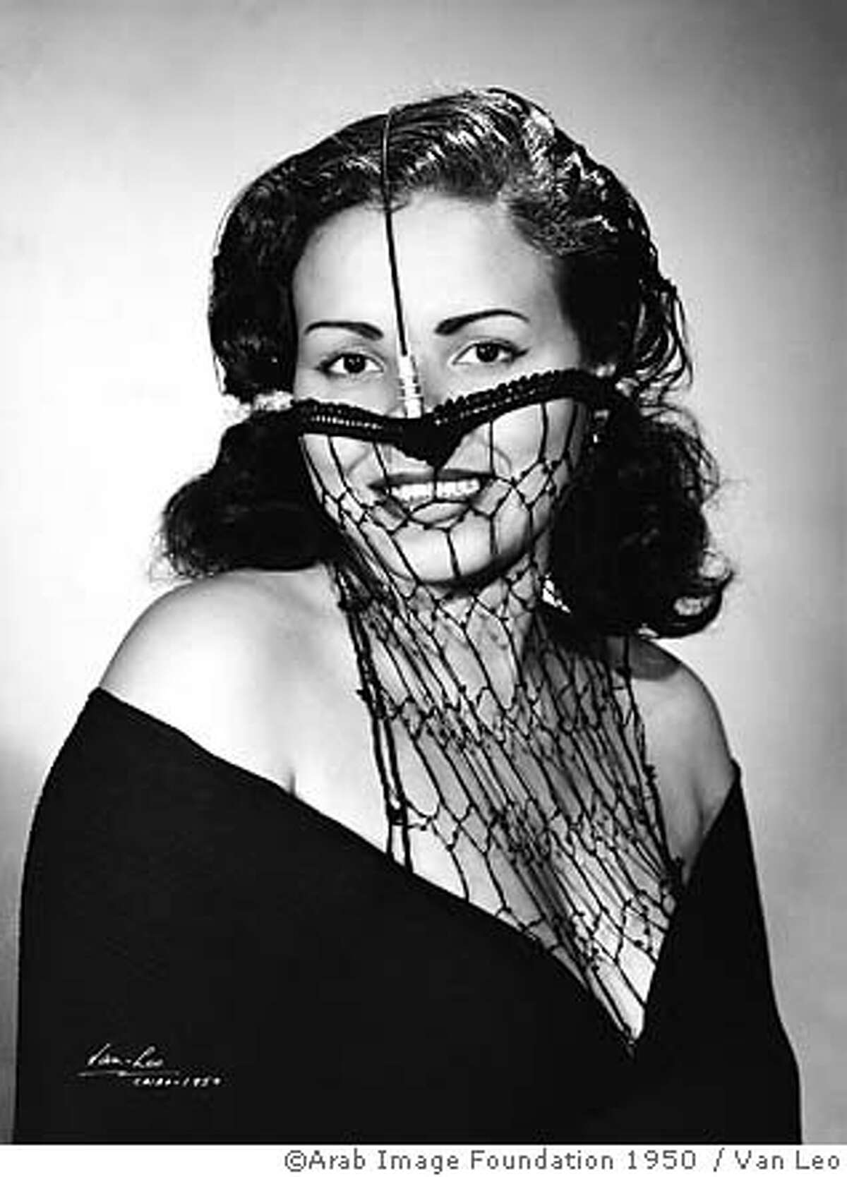 Van Leo collection veil woman with see through veil 1950