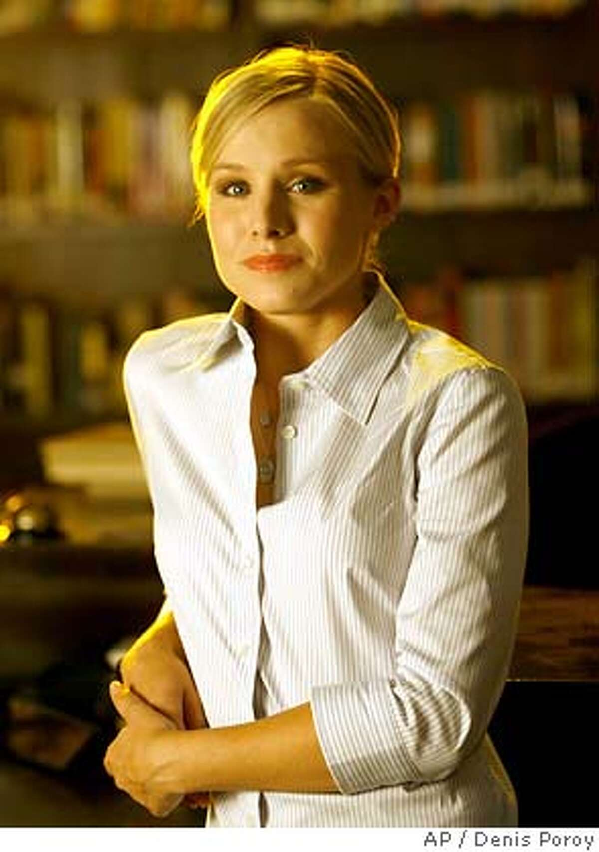 Actress Kristen Bell appears on the set of the television series