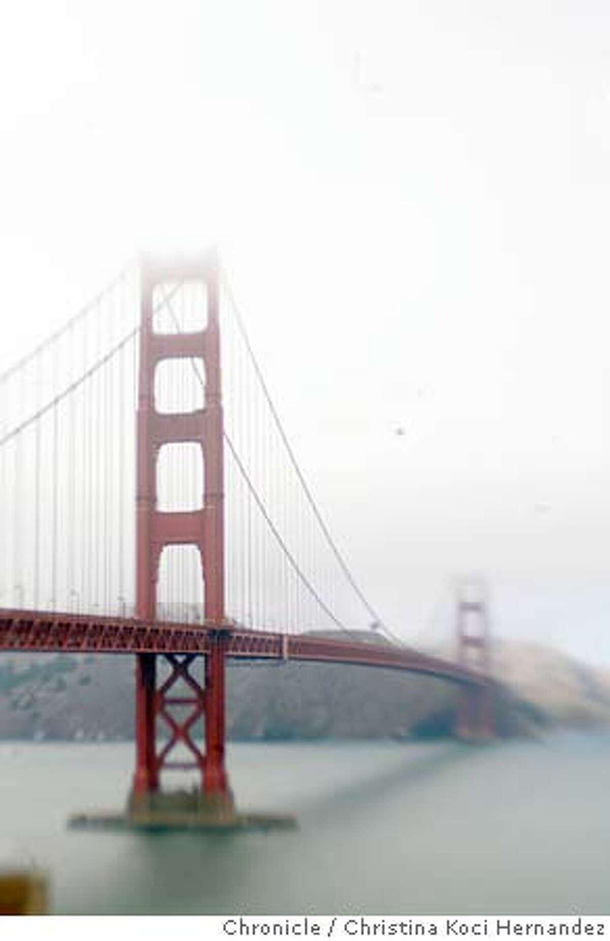 CHRISTINA KOCI HERNANDEZ/CHRONICLE Photos of the Golden gate Bridge. Story on GG Bridge suicides for story,