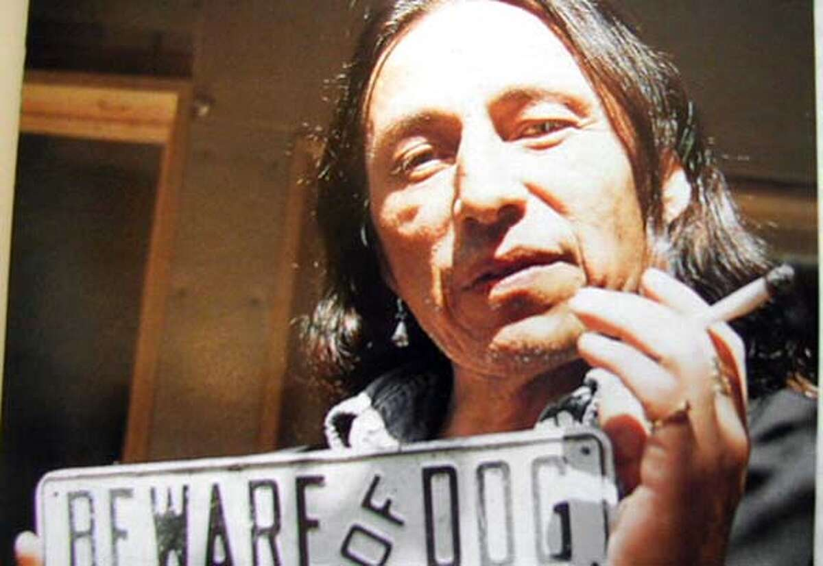 """Indian rights activist John Trudell, who is the subject of the openong night film, """"Trudell."""""""
