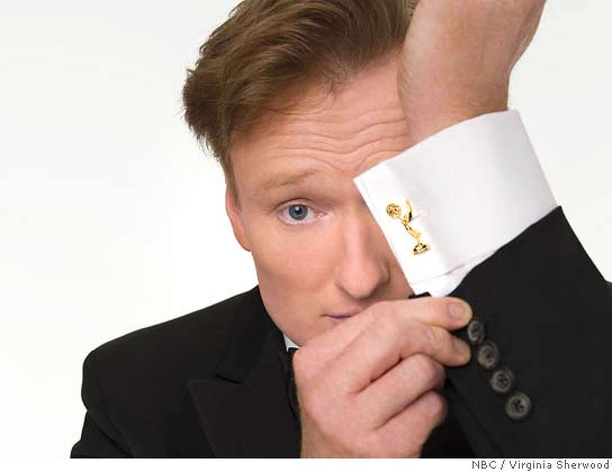 """THE 58th ANNUAL PRIMETIME EMMY AWARDS -- Hosted by Conan O'Brien, critically acclaimed host of NBC's """"Late Night With Conan O'Brien"""", airs live on NBC. -- Pictured: Conan O'Brien -- NBC Photo: Virginia Sherwood Ran on: 03-15-2007 Conan O'Brien, host of a late-night talk show, will set up shop at the Orpheum Theatre for a week. Ran on: 03-15-2007 FOR EDITORIAL USE ONLY -- NOT FOR RESALE -- DO NOT ARCHIVE"""