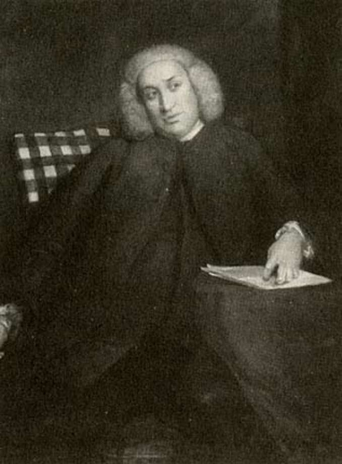 "Samuel Johnson in middle age. From ""Defining the World''"