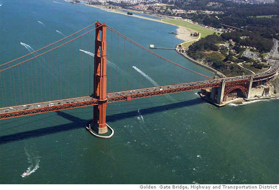 The Golden Gate Bridge is being honored with a national engineering award for a retrofit project meant to help the iconic span withstand a large earthquake. Photo courtesy of the Golden Gate Bridge, Highway and Transportation District