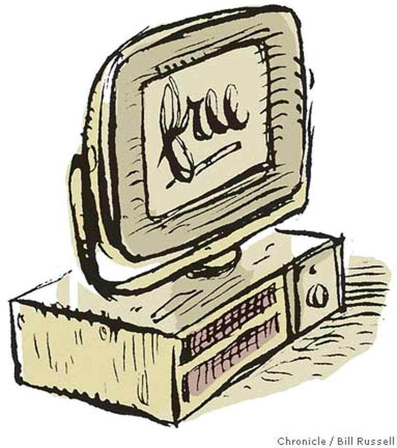 Free Computer. Chronicle illustration by Bill Russell