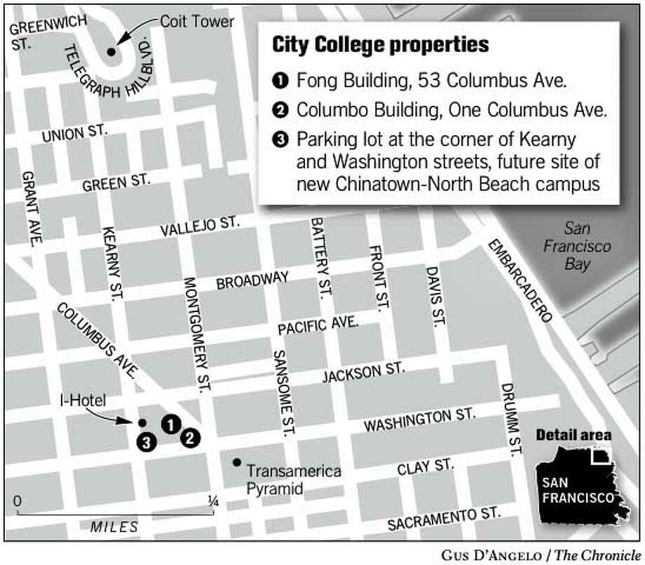 City College Properties. Chronicle Graphic By Gus Du0027Angelo