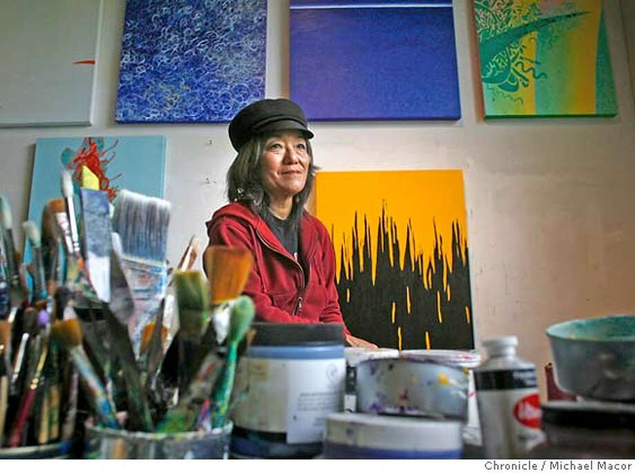 kidsart_127_mac.jpg Kano in her home art studio. Berkeley artist, Betty Kano was just 5 years old when she painted a picture, back in 1950, which is now part of the exhibition in Oakland. Exhibition of WWII kids artwork from the old Kaiser shipyard childcare center poster paint pictures of Hitler, battleships, empty houses, etc.). Teachers saved thousands of the pictures, and they sat buried in a Richmond basement until a retired UC Berkeley professor dug them out about five months ago. Photographed in, Berkeley, Ca, on 4/20/07. Photo by: Michael Macor/ The Chronicle Photo: Michael Macor