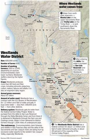 THE CALIFORNIA WATER WARS / WATER FLOWING TO FARMS, NOT FISH