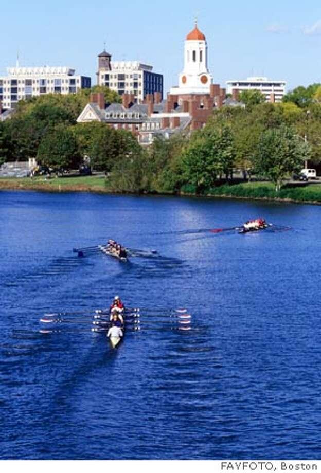 TRAVEL BOSTON -- Harvard and Charles River, Cambridge  Head of the Charles Regatta Ran on: 07-04-2004 Photo: FAYFOTO, Boston