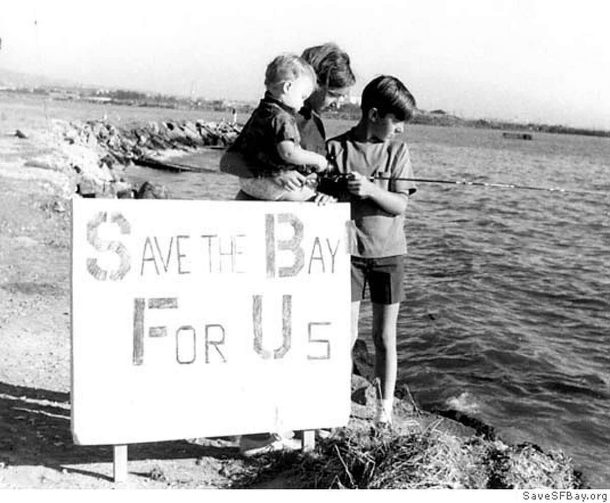 Original photograph sign from the beginnings of Save The Bay organization