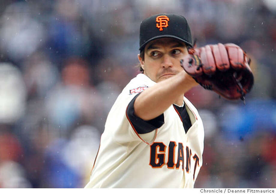 Barry Zito pitched shutout innings into the 8th. San Francisco Giants beat the Arizona Diamondbacks as Barry Zito, Brad Hennessey and Armando Benitez combine for a shutout. Photographed in San Francisco on 4/21/07. Deanne Fitzmaurice / The Chronicle Photo: Deanne Fitzmaurice