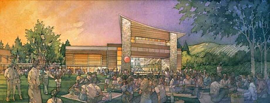 GREENMUSIC19 Artist rendering of the Green Music Center at Sonoma State Univ. in Rohnert Park. Expected to open in 2008. Photo: Artist Rendering