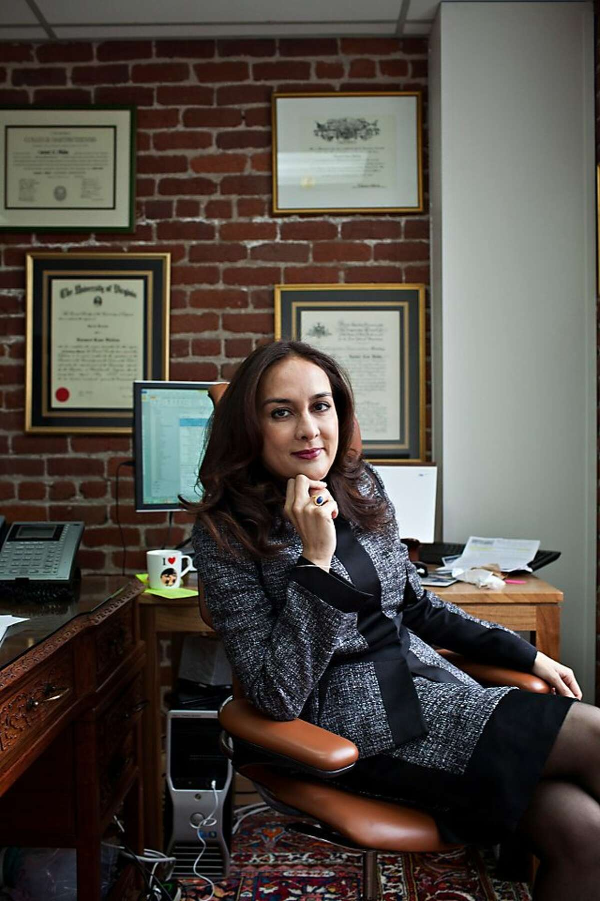 Harmeet Dhillon, the head of the SFGOP and a candidate against Mark Leno, in her office at Dhillon & Smith LLP in San Francisco Calif., March 16, 2012. Jason Henry/Special to The Chronicle