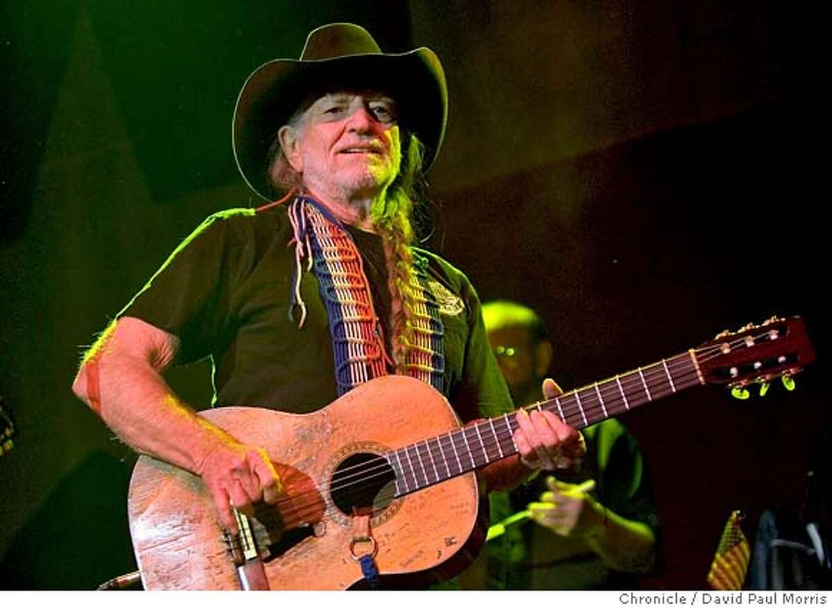 SAN FRANCISCO - APRIL 15: Willie Nelson performs to a sold out crowd at the Fillmore Auditorium on April 15, 2007 in San Francisco, California. (Photo by David Paul Morris/The Chronicle)